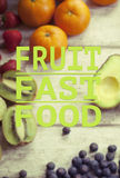 Citações saudáveis comer Imagens de Stock