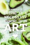 Citações saudáveis comer Foto de Stock Royalty Free