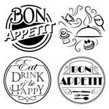 Citações, sinais para a cozinha ilustração royalty free