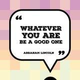 Cita de Abraham Lincoln Fotografía de archivo libre de regalías