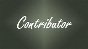 Cita de alta resolución del contribuidor con el ejemplo del gráfico del fondo del color verde libre illustration