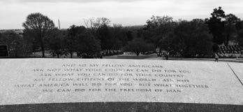 Cita de JFK Imágenes de archivo libres de regalías