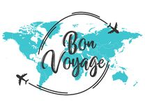 Cita de la inscripción de Bon Voyage ilustración del vector
