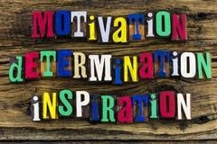 Cita de la inspiración de la determinación de la motivación imagen de archivo