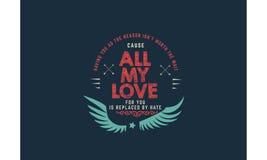 Cita de la tipografía del amor Foto de archivo libre de regalías