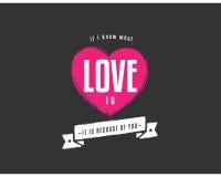 Cita de la tipografía del amor Fotos de archivo libres de regalías