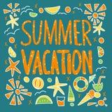 Cita de las vacaciones de verano Ilustraci?n de color del vector libre illustration