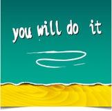 Cita de motivación inspirada Fotos de archivo