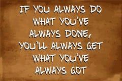 Cita de motivación inspirada Foto de archivo