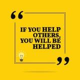Cita de motivación inspirada Si usted ayuda a otros, usted b ilustración del vector