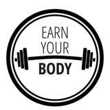 Cita de motivación sobre gimnasio y levantamiento de pesas de la aptitud del entrenamiento/tipografía del concepto de la motivaci ilustración del vector