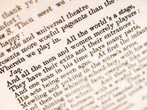 Cita de Shakespeare Imágenes de archivo libres de regalías