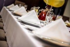 Cita de tabla en el restaurante Foto de archivo libre de regalías