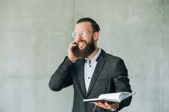 Cita del horario de la conversación telefónica del negocio fotos de archivo libres de regalías