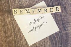 Cita del perdón fotos de archivo libres de regalías