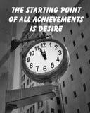 Cita del reloj de la ciudad Fotografía de archivo