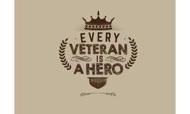 Cita del vector del veterano imagen de archivo