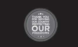 Cita del vector del veterano Imagen de archivo libre de regalías