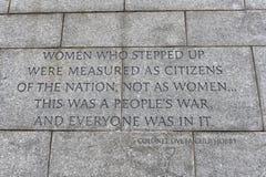Cita en el monumento de Franklin Delano Roosevelt Fotos de archivo libres de regalías