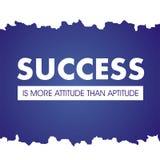 Cita??es inspiradas O sucesso é mais atitude do que a aptidão ilustração royalty free