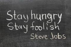 Cita de Steve Jobs Imágenes de archivo libres de regalías