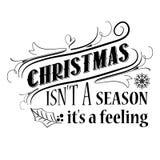 Cita inspirada de la Navidad ilustración del vector