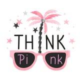 Cita inspirada de Think Pink Fotografía de archivo libre de regalías
