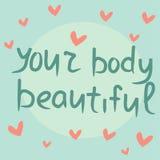 Cita inspirada sobre positivo del cuerpo Imagenes de archivo