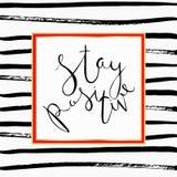 Cita inspiradora Letras dibujadas mano Foto de archivo libre de regalías
