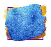 Citaat leeg malplaatje Vector leeg vierkant adreskaartje Blauwe doosachtergrond Stock Foto's