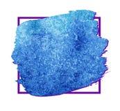 Citaat leeg malplaatje Vector leeg vierkant adreskaartje Blauwe doosachtergrond Royalty-vrije Stock Foto