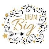 Citaat van de droom het Grote inspiratie  vector illustratie