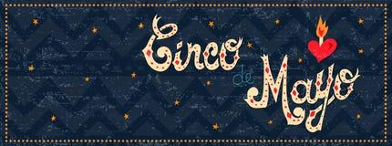 Citaat van de het Webbanner van de Cincode Mayo het Mexicaanse partij Royalty-vrije Stock Fotografie