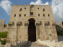 Citadel. The old citadel in Aleppo, Syria, dominates the city Stock Photography