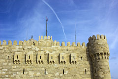Citadel. With nice blue sky and clouds Stock Images