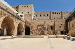 Citadel of Acre, an Ottoman fortification in Israel stock image
