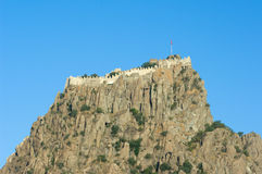 Citadel Of Afyon, Turkey. The steep rock topped by kale or Hisar (citadel) as a colossus dominates Afyon, Turkey Royalty Free Stock Photo