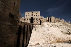 Citadel in Aleppo. In central hill Stock Photography