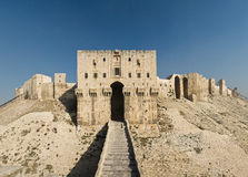 Citadel of Aleppo. Aleppo, northern Syria. The inner gate of the citadel Stock Images