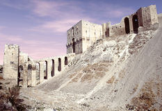 Citadel of Aleppo at the sunset Royalty Free Stock Images