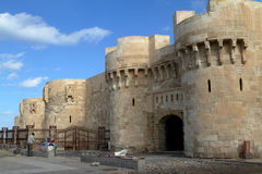 Citadel of Alexandria in Egypt Royalty Free Stock Photo