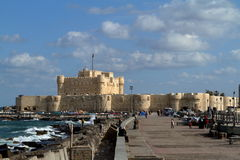 Citadel of Alexandria in Egypt Stock Images
