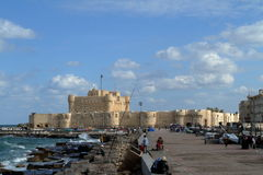 Citadel of Alexandria in Egypt Royalty Free Stock Images