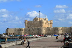 Citadel of Alexandria in Egypt Royalty Free Stock Photography