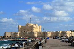 Citadel of Alexandria in Egypt Stock Image