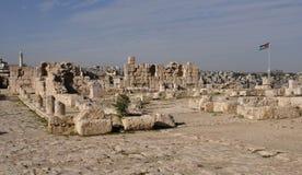 Citadel in Amman. Ruins near the Citadel, Al-Qasr site, Jordan Stock Image