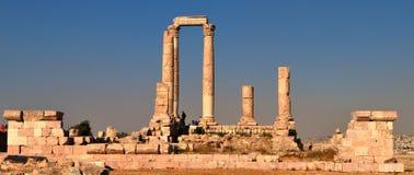 Citadel Amman,Jordan. Hercules temple in Amman,Jordan Royalty Free Stock Photos