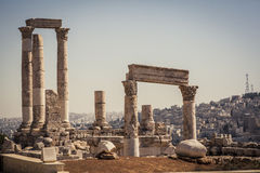 Citadel of Amman, Jordan Royalty Free Stock Photos