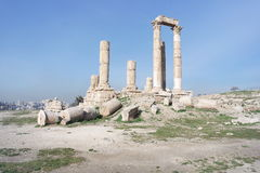 The Citadel, Amman, Jordan Royalty Free Stock Image