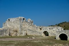 Citadel, Berati, Albania. Berati is one of the most beautiful old city in Albania with its hilltop fortress Royalty Free Stock Photos